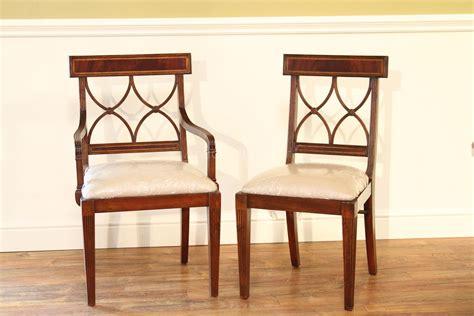 mahogany cross back dining chairs inlaid mahogany chairs