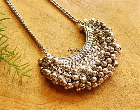 Ethnic Chain ethnic moon tribal boho pendant chain necklace at 1450