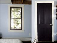 Interior Doors Painted Black with White Trim
