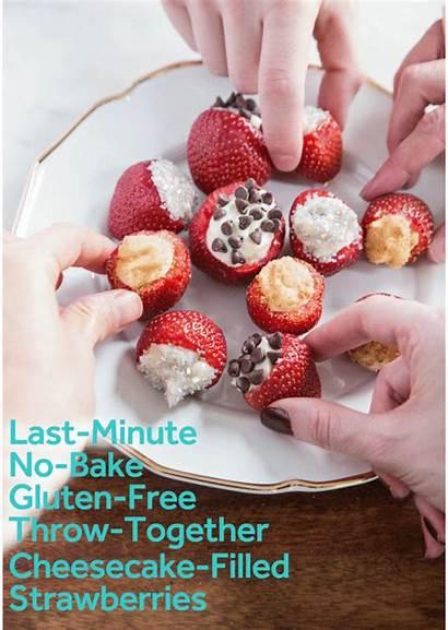 Cheesecake Stuffed Strawberries Bake Thekitchn Recipe Filled