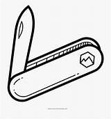 Knife Pocket Coloring Clip Cartoon Netclipart Butcher sketch template