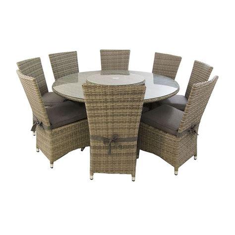 conjunto de jardin mesa redonda   ocho sillas