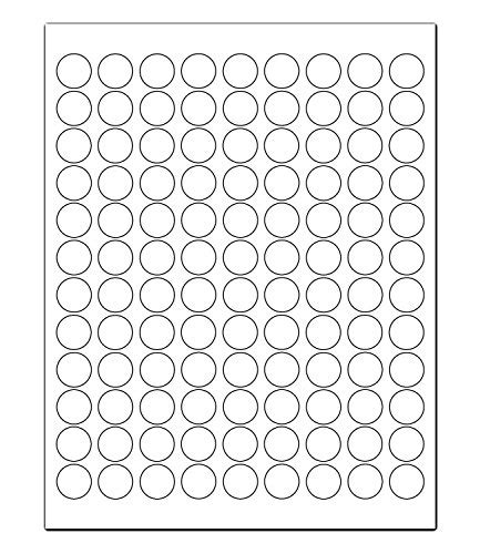 printer labels laser inkjet  white