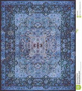 Persian Carpet Texture, Abstract Ornament Round Mandala
