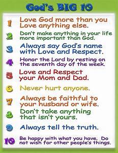 Kid Friendly Ten Commandments   Pre K   Pinterest ...
