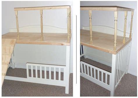Crib Turned Play Loft