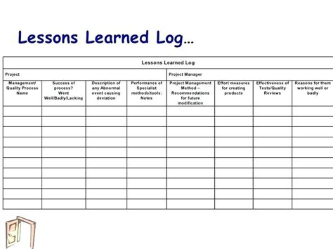 Lessons Learnt Project Management Template Lessons Learnt Project Management Template Free Lessons