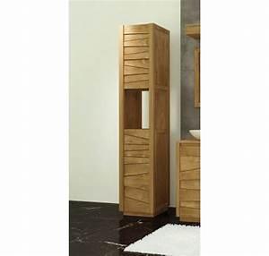 colonne de salle de bain teck massif groovy mobilier de With colonne de salle de bain en teck