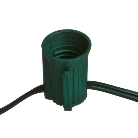 100 c7 commercial socket cord 12 quot spacing green wire