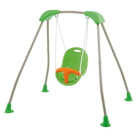 siege gamm vert portique bébé pliable métal et siège plastique baby k