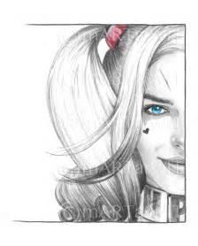 Harley Quinn Face Drawing