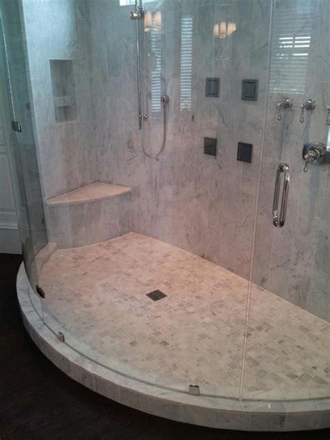 curved marble shower modern bathroom charleston