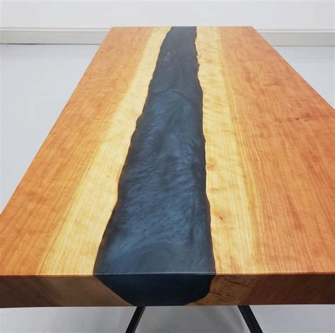 Epoxy live edge river table most epoxy tables are made with expensive resin and colored dye that can seem overwhelming. Cherry & Epoxy River Coffee Table   Amish Live Edge Coffee Table   Amish Furniture - Country ...