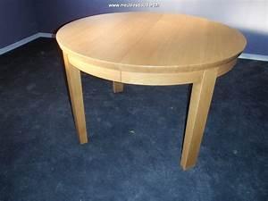 Table Ronde En Chene : table ronde moderne avec 4 allonges ~ Teatrodelosmanantiales.com Idées de Décoration