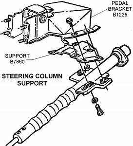 Steering Column Support - Diagram View