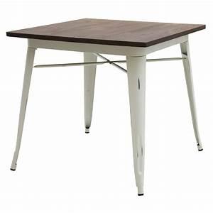 tavolo moderno quadrato da bar bianco anticato piano legno With tavolo bianco moderno