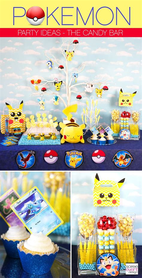 pokemon party ideas   set   pokemon candy bar