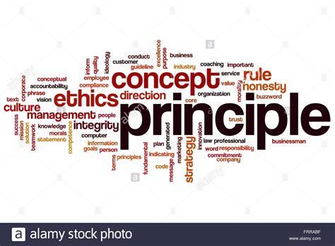 Principle word cloud concept Stock Photo - Alamy