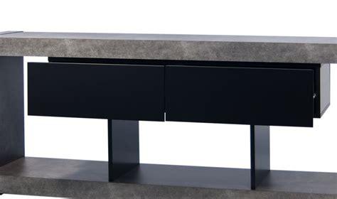 alinea meuble tv effet beton solutions pour la