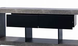 Meuble Tv Beton : meuble tv design nara beton de temahome mobilier salon tendance ~ Teatrodelosmanantiales.com Idées de Décoration