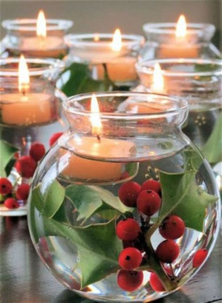 candele per natale idee per la tavola di natale decorazioni fai da te