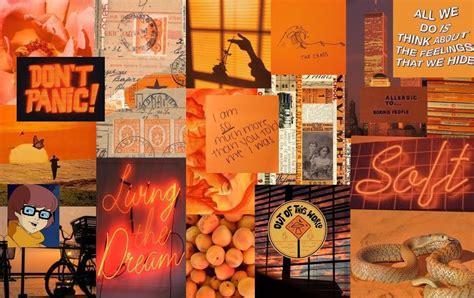 orange aesthetic laptop wallpapers