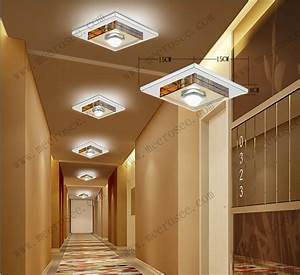 Watt led ceiling light fixture crystal glass