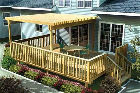 planning ideas large easy raised deck deck design