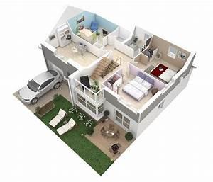 Plan De Maison 3d  U2013 Onetosix