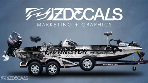 Boat Wraps Designs For Sale by Zdecals Bass Boat Wraps
