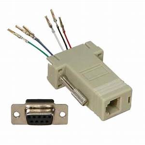 Db9 12  6 Wire  Modular Adapter Ivory