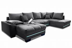 Sofa Mit Led Und Sound : wohnlandschaft nikita mit led und sound schwarz sofas zum halben preis ~ Orissabook.com Haus und Dekorationen