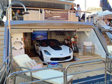 la pellegrina superyacht  corvette   garage