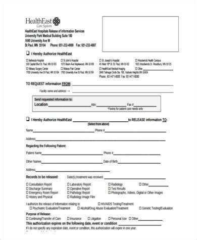 15419 hospital release form sle hospital release forms 8 free documents in word pdf