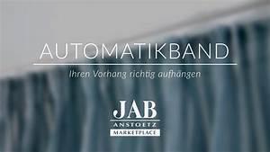 Automatik Faltenband Gardinen : vorhang mit automatikband richtig aufh ngen jab anstoetz ~ A.2002-acura-tl-radio.info Haus und Dekorationen