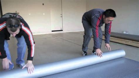 install garage flooring rolls youtube