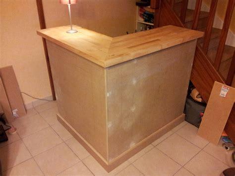 meuble cuisine bistrot comment fabriquer un bar en bois