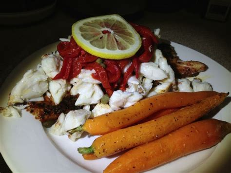 grouper blackened crab meat