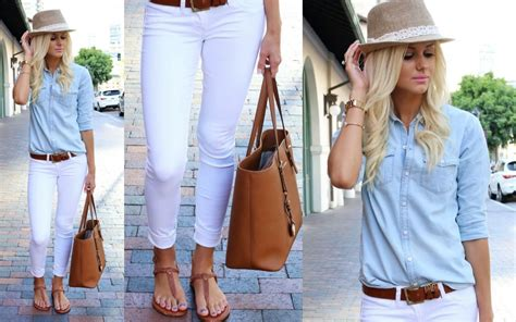 Outfit Jean Blanco Mujer