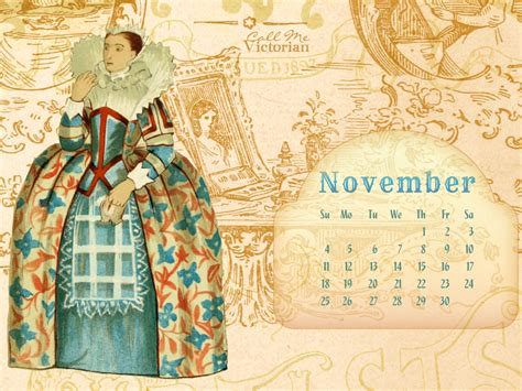 desktop wallpaper calendar november  call  victorian