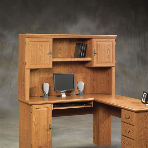 solid oak computer desk with hutch solid wood computer desk with hutch sauder harvest mill