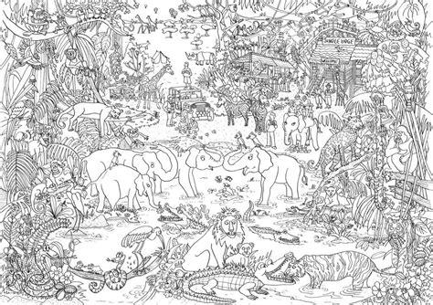 jungle lets color adult coloring pages color