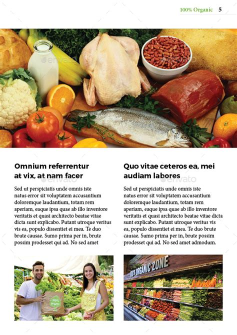 newsletter cuisine organic food newsletter by magic reflection graphicriver