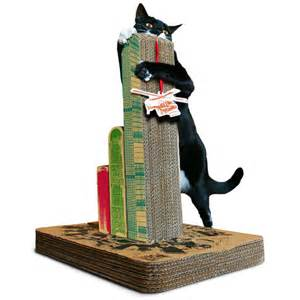 cat post cats attack scratching post the green
