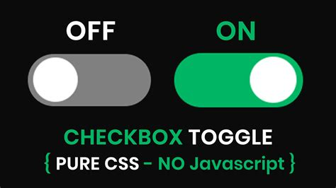 create  custom toggle switch buttons  pure css