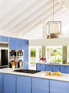blue kitchen paint colors pictures ideas tips from With kitchen colors with white cabinets with wall art kids room