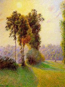 Eragny Art De Vivre : favourite paintings 7 camille pissarro setting sun and ~ Dailycaller-alerts.com Idées de Décoration
