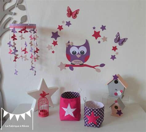 chambre fille etoile décoration chambre enfant bébé fille fuchsia violet