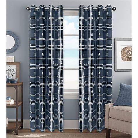 Knot Plaid Window Curtain Panel And Valance  Bed Bath