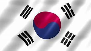 South Korea Flag With Transparent Background Stock Footage ...